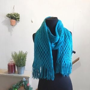 Accessories - Teal Blue Fringe Scarf!